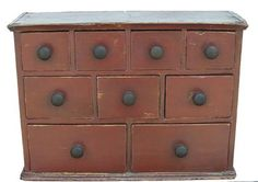 "19th century Pennsylvania nine drawer Apothecary Chest, 21"" W x 15"" H x 8"" Deep"
