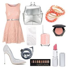 """""""Princess pink"""" by luisa-shield on Polyvore featuring Glamorous, Casadei, Kin by John Lewis, Monika Strigel, Ruby Rocks, HoneyBee Gardens, H&M, Essie and Forever 21"""