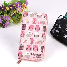 BUY now 4 XMAS n NY. Fashion Pink Wallets Lovely Printing Women Wallet Ladies Clutch Change Coin Purse Card Holder Cute Zipper Long Wallet New Arrive * Details on this piece can be viewed on  AliExpress.com. Just click the image #xmasgiftsforboyfriend