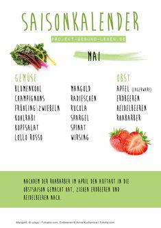 Saisonkalender Mai | Projekt: Gesund leben | Clean Eating, Fitness & Entspannung