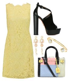 """""""Untitled #709"""" by meryem-mess ❤ liked on Polyvore featuring Emilio Pucci, Kurt Geiger, Aquazzura, Halo & Co. and Monsoon"""