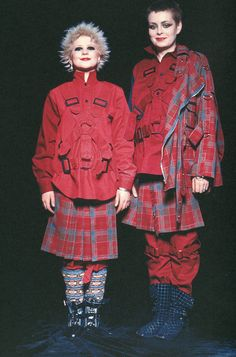 Debbie Juvenile and Tracie O'Keefe wearing outfits by Vivienne Westwood, 1977. I bought some boots similar to the ones on the right (because I liked the shape and colour) and it wasn't until I actually went to wear them for the first time that I realised they had lots of tiny pictures imprinted into the material of people doing rude things to each other.