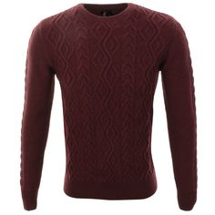 Barbour > Barbour Barnard Crew Neck Knit Jumper Red > Barbour Jumpers | Sweatshirts | Jackets | Mainline Menswear Official Stockists Of All Barbour Mens Designer Clothes Online UK Next Day Delivery