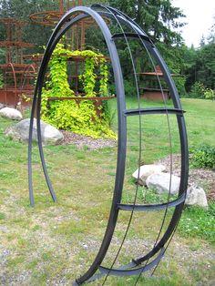 moonbeam metal garden arch - My Garden Decor List Garden Arch Trellis, Garden Archway, Pergola Garden, Outdoor Pergola, Diy Pergola, Pergola Kits, Trellis Ideas, Pergola Ideas, Metal Arbor