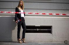 Black suit leopard print shoes - Maria Kolosova