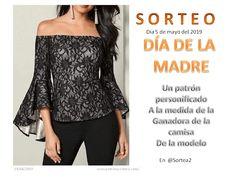 Sorteo Día de la madre Manga Raglan, Off Shoulder Blouse, Textiles, Women, Blog, Fashion, Lace Fabric, May 5, Blouse Models