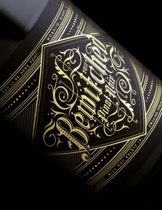 Beautiful use of blackletter typography embedded in illustrative swirls