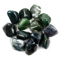 "*Healing Stones for Prosperity: ""Green Moss Agate is a healing stone for abundance. Wearing moss agate...can bring you good health, wealth and emotional balance...will improve yields and strengthen your spiritual connection with plants and natural elements. Maximize money energy by pairing with..."""