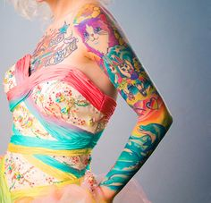 This ink proves that there's no longer a reason to buy Lisa Frank folders when you can just have all of the designs on your arm. - This ink proves that there's no longer a reason to buy Lisa Frank folders when you can just have - Pretty Tattoos, Cute Tattoos, Beautiful Tattoos, Body Art Tattoos, Sleeve Tattoos, Tattoo Sleeves, Tatoos, Tattoo Art, Painting Tattoo