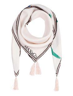 Foulard di seta stampata, rosa -