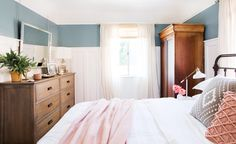 Warm & Bright, Traditional Style Master Bedroom Makeover