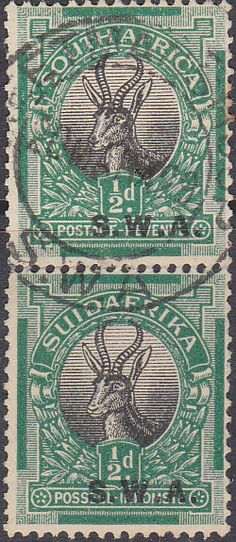 South West Africa 1927 Springbok Horizontal Pair SG 58 Fine Mint SG 58 Scott 97 Other British Commonwealth Stamps for sale here