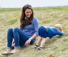 Prince George steals the show at Prince William's polo match with mom, Princess Kate.