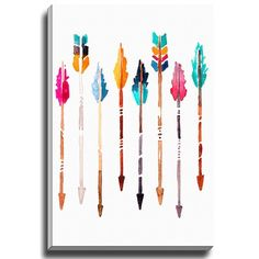 "Bashian Home ""Arrows"" by Kelsey McNatt Painting Print on Canvas"
