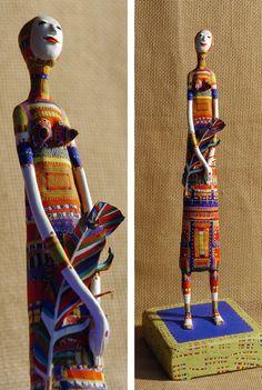 "Saatchi Art Artist: Yulia Luchkina; Mixed Media 2003 Sculpture ""My first girl"""