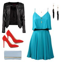 A fashion look from September 2015 featuring flounce dress, faux leather moto jacket and red high heel shoes. Browse and shop related looks. Red High Heel Shoes, Shoes Heels, Charlotte Olympia, Charlotte Russe, Moto Jacket, Polyvore, Fashion Looks, Michael Kors, Jackets