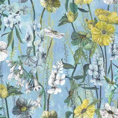 Masson Azure Fabric | Designers Guild