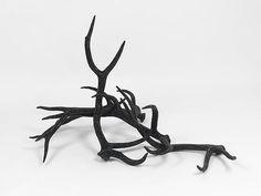 MARC SWANSON | Untitled (Four Black Elk), 2010.  Elk antlers, jet crystals, adhesive.  34x43x60