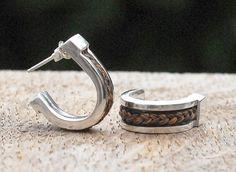 Custom horsehair earrings sterling silver  van Enigmahorse op Etsy