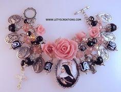 Catholic St. Rita, Saints Religious Medals Charm Bracelet www.letyscreations.com