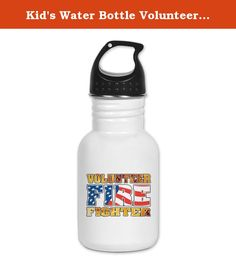 Kid's Water Bottle Volunteer Firefighter Flames US Flag. Product Number: 0001-1548700010 Perfect for school lunches or soccer games, our kid's stainless steel water bottle quenches children's thirst for individuality. Personalized for what kids love, it's both eco-friendly and compact. Made of 18/8, food-grade stainless steel. * No lining & no BPA or other toxins * Wide mouth for easy drinking * Durable, BPA-free & phalate-free screw-on top * Holds 0.35L (nearly 12 ounces) * Thin profile…