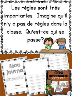 Fun writing prompts for the month of September in French!  Use with your own notebook or the use the journal writing pages included!