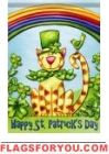 Catty For St. Patty Garden Flag