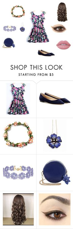 """""""Kawaii"""" by marina-beppler on Polyvore featuring Jimmy Choo, BaubleBar and Lime Crime"""