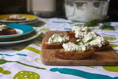 herbed ricotta bruschetta by shutterbean, via Flickr