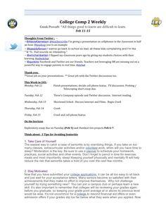Week 4 syllabus.  Page 1
