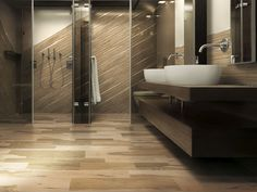 bathroom porcelain stoneware wall tile wood look over - Wall Designs With Tiles