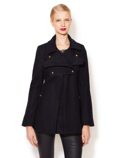 Minoah Wool Double Breasted Coat by DV by Dolce Vita at Gilt