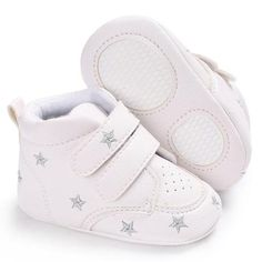 ba5825c565f6 Raise Young PU Leather Mid-high Baby Sneakers Soft Soles Non-slip Infant  Girl First Walkers Newborn Boy Shoes Toddler Footwear