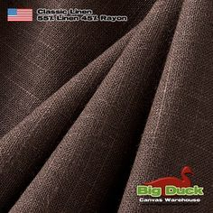 Wholesale Distributors of Brown Linen Fabric for Upholstery and Drapery Home Decor Linen Blend in Big Duck, Linen Upholstery Fabric, Slipcovers, Duvet Covers, Canvas, Classic, Usa, Dark Brown, Closet