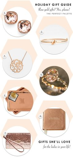 Holiday Gift Guide - Rose Gold Gifts? Yes, Please! http://www.theperfectpalette.com/2015/11/holiday-gift-guide-rose-gold-gifts-yes.html