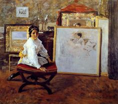 "William Merritt Chase, ""Did You Speak to Me?"""