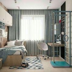 architectural and interior design детская Home Interior, Interior Design Living Room, Bedroom Wall, Bedroom Decor, Wooden Bedroom, Bedroom Furniture, Bedroom Design Inspiration, Kids Room Design, Dream Rooms