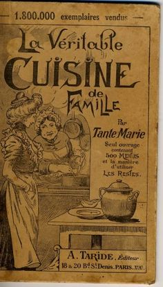An old French cookbook