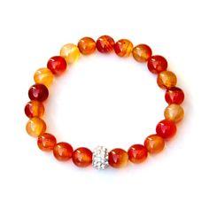 Carnelian bracelet carnelian jewelry carnelian bracelets