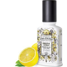 This spray really does work. Spritz in the toliet bowl before you go and it creates a barrier preventing odor. 200 uses! Poo~Pourri Original Citrus is an uplifting blend of lemon, bergamot and lemongrass natural essential oils. Toilet Spray, Odor Eliminator, Poo Pourri, Lavender Scent, Toilet Bowl, Natural Essential Oils, Deodorant, The Originals, Bottle