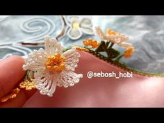 Bu model şimdilerde çok moda😉 Yapılışı sadece bende😎 - YouTube Crochet Motif, Crochet Flowers, Red Jewelry, Women Jewelry, Baby Knitting Patterns, Crochet Patterns, Hand Embroidery Videos, Bohemian Bracelets, Needle Lace