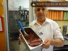 Chocolate gelato with black currant