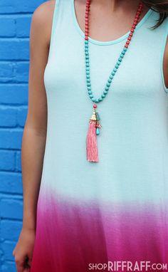 Summer Sunset Ombre Dress