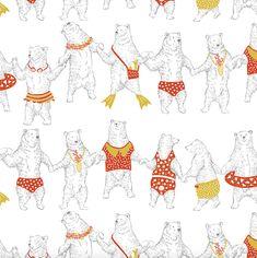 Orie's art【Summer bear】#bearillust #design #動物イラスト #くまイラスト #bear #イラスト #デザイン #イラスト #細密画 #絵 #おしゃれイラスト Illustration, Illustrations