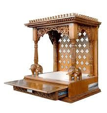 Aarsun Woods Wooden Temple / Mandir/ Mantapam In Teak Wood Wooden Temple For Home, Temple Design For Home, Home Temple, Altar, Bed Design, House Design, Mandir Design, Pooja Mandir, Pooja Room Door Design