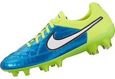 Get yours here now: http://www.soccerpro.com/Womens-Soccer-Shoes-c388/ Nike Women's Tiempo Legend V FG Soccer Cleats - Blue Lagoon