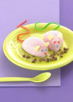 Coole Mäusekids für Kinder -  Ein sahniges Dessert mit Himbeeren für Kinder