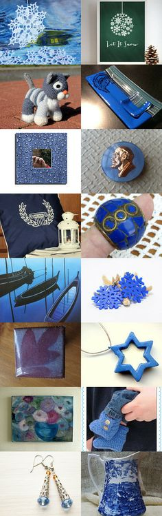 Calm, Steady Hues.....  LUCKYSTAN  by Myna F on Etsy--Pinned with TreasuryPin.com