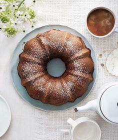 Brown Sugar Pecan Coffee Cake recipe: A ribbon of decadent brown sugar and pecan streusel ripples through the center of this classic bundt.