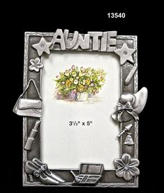 Frame/AuntieBrass/Pewter  Handmade in Asia $12